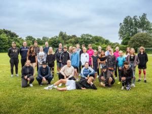 Gruppenbild 6. Badminton Sommercamp
